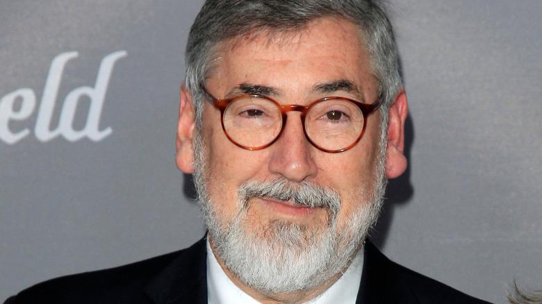 Director John Landis wearing glasses