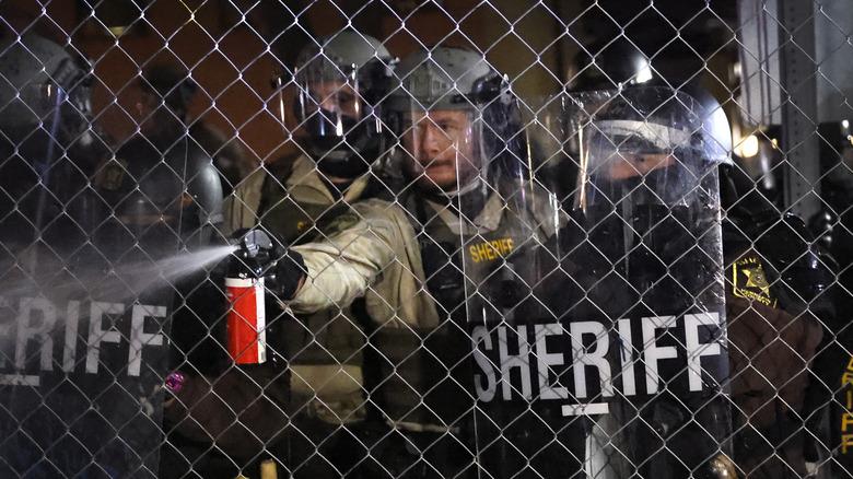 police misusing pepper spray