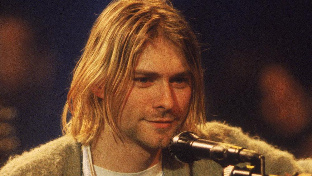 Kurt Cobain and microphone