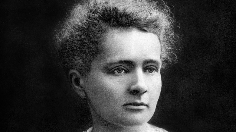 Marie Curie posing for portrait