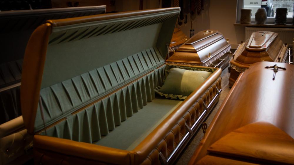 Several caskets