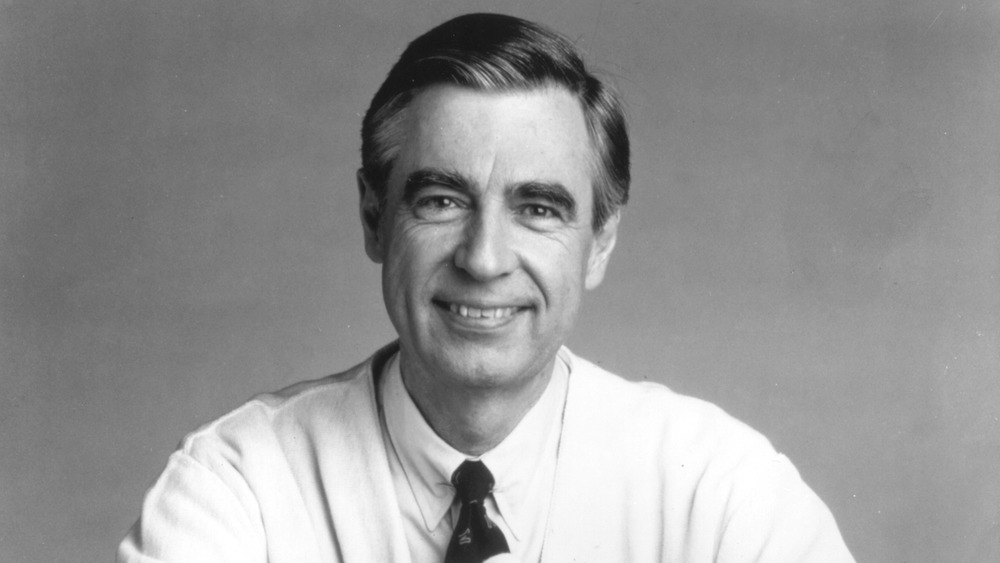 Mr. Rogers posing for a promotional picture in 1988