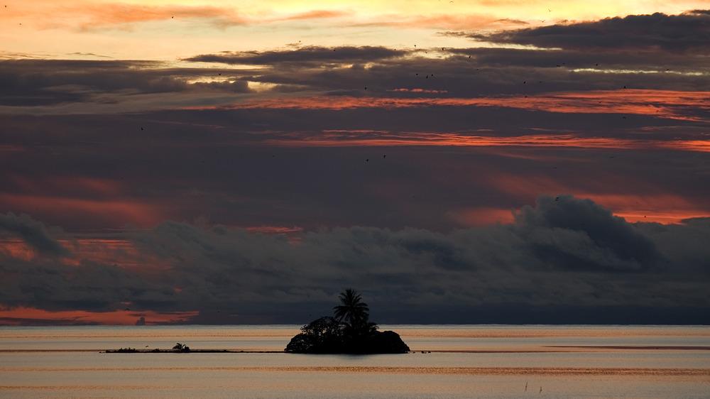 Sunset in Palmyra Atoll USA