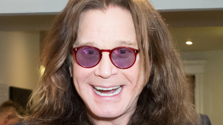 Ozzy Osbourne smiling