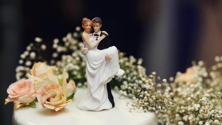 a wedding cake topper