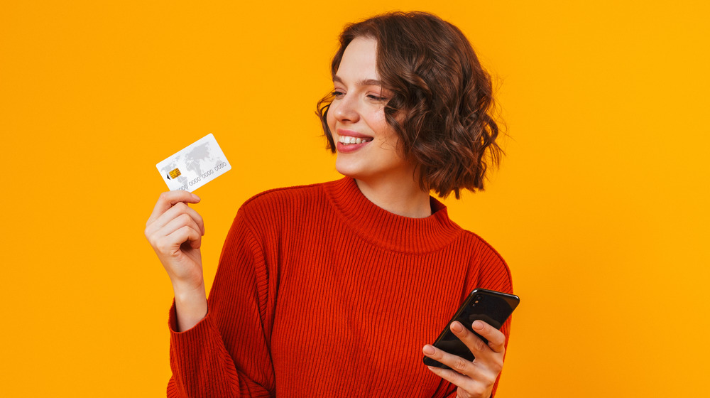 Woman and a credit card