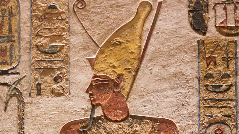 Ancient Egyptiian drawing of Pharaoh Ramesses III