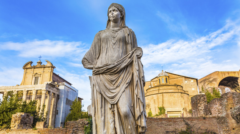 Vestal Virgin statue, Rome