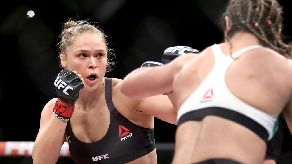 Ronda Rousey in the ring