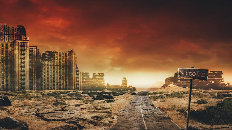Apocalyptic city scene