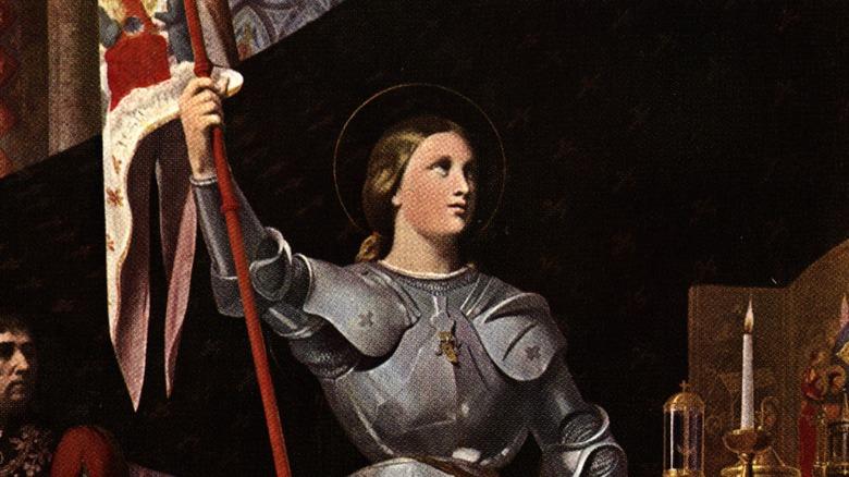 Joan of Arc holding flag