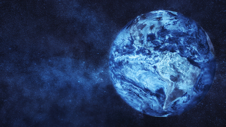 Icy planet Earth