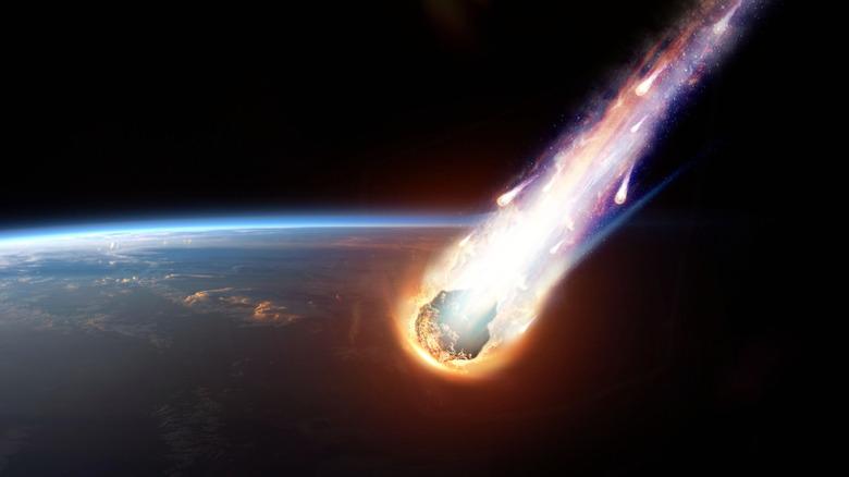 Meteor heading toward Earth