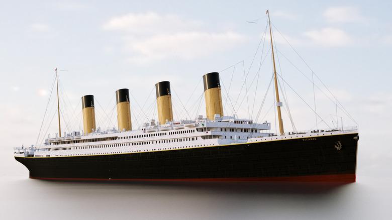 Titanic 3d rendering