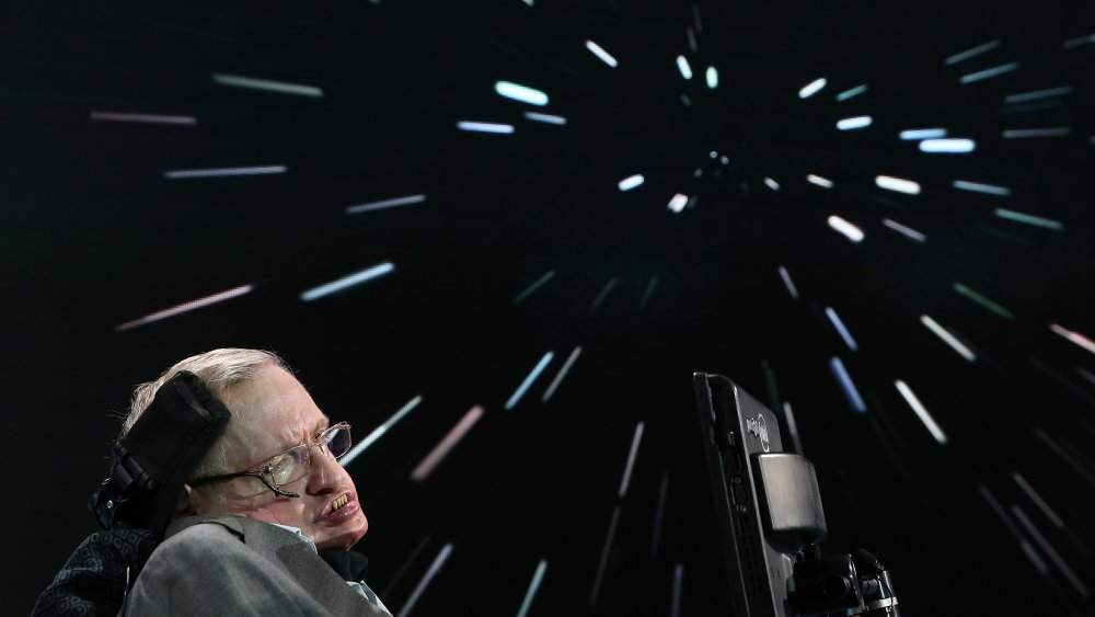 Stephen Hawking at a space exploration initiative in 2016