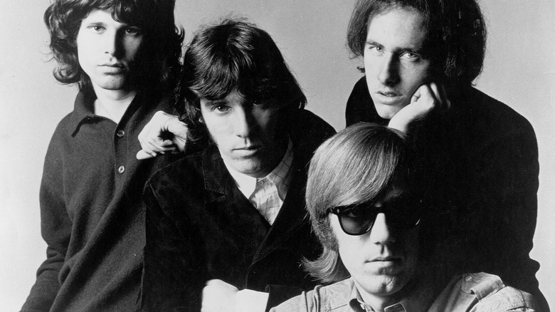 The Doors black-and-white group photo