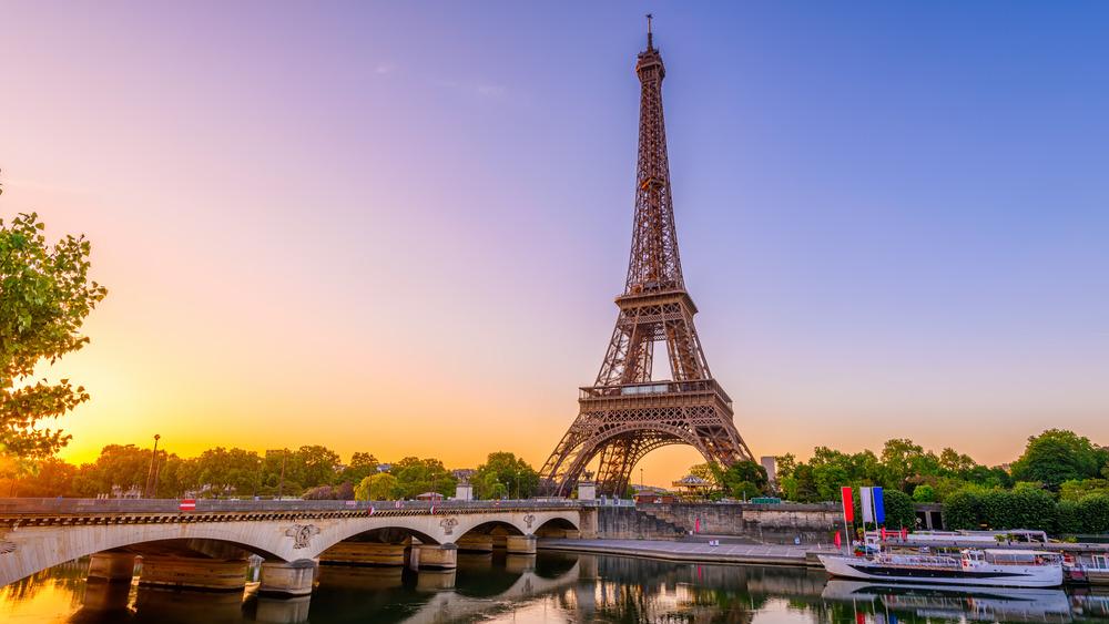 Eiffel Tower Bridge River