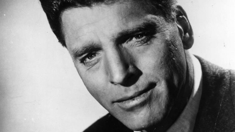 Burt Lancaster slightly smiling