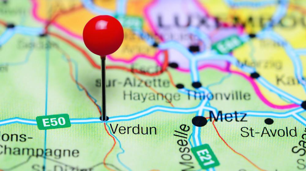 Verdun, France map