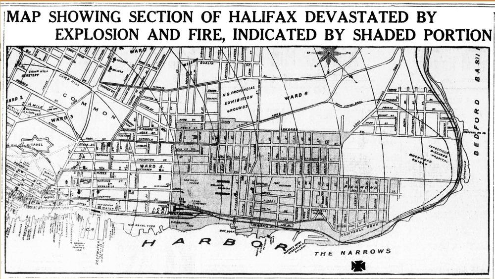 Boston Globe headline on the Halifax Explosion