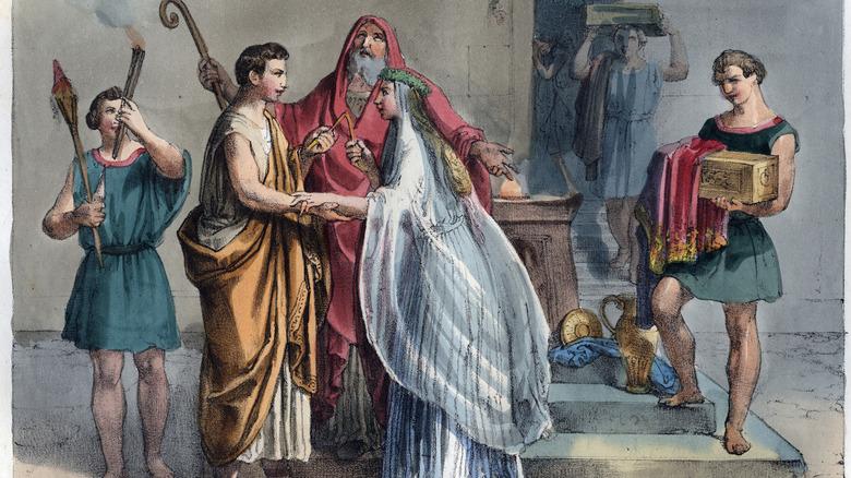Roman wedding portrait