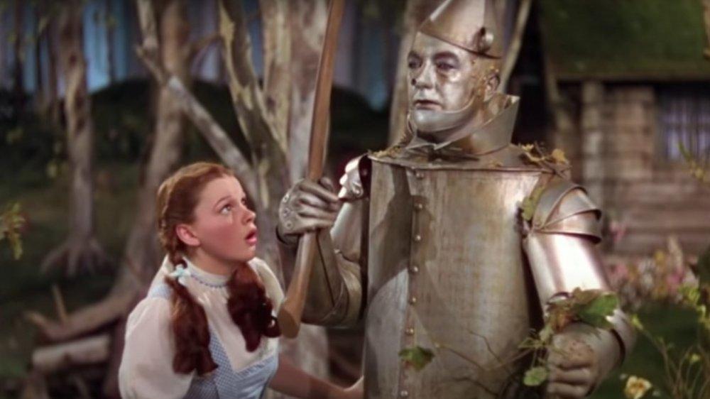 Dorothy meets the Tin Man
