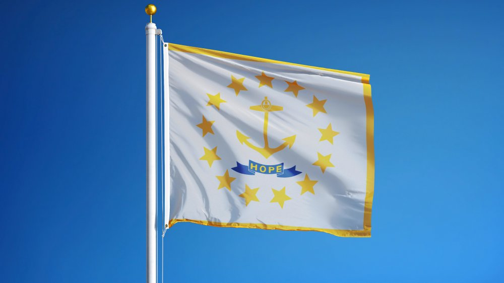 The flag of Rhode Island