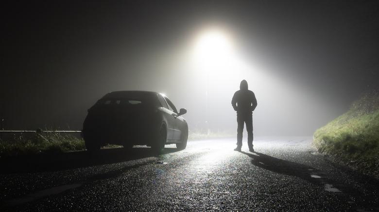 car road night