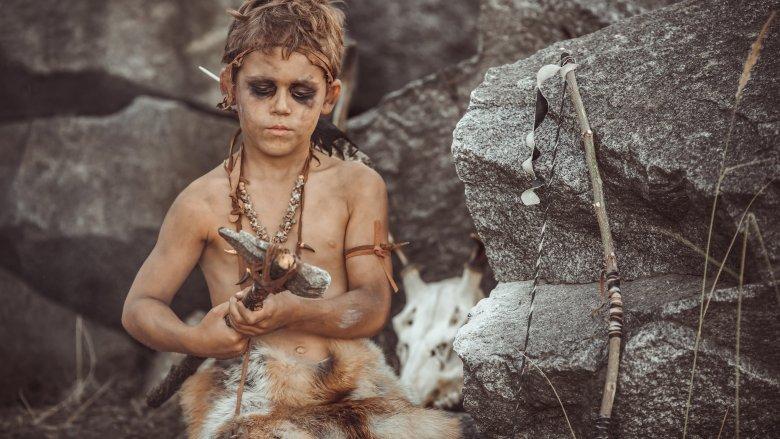 Stone Age caveman