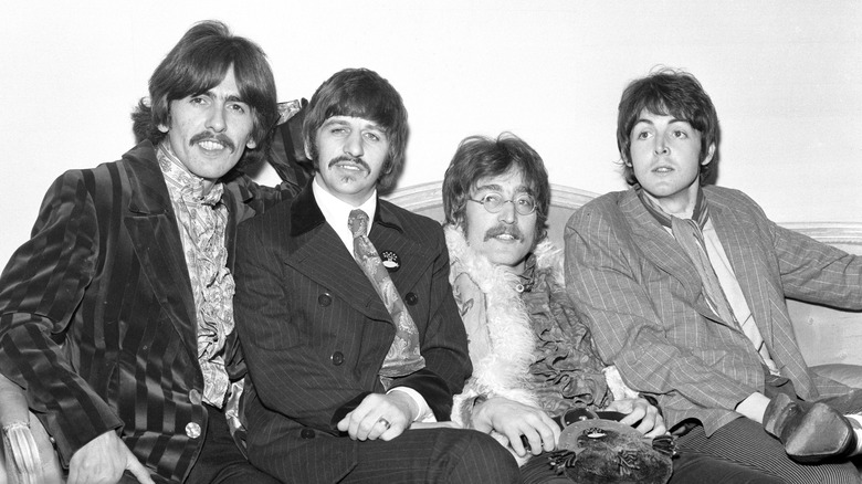 Beatles pose for band photo