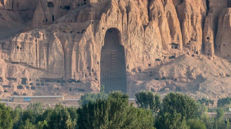 Ruins of bamiyan buddha