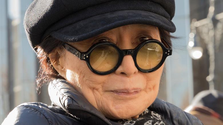 Yoko Ono close up portrait