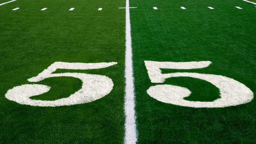 Football field features number 55