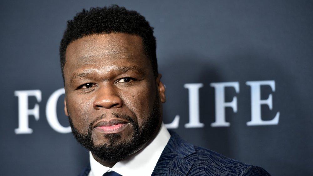 A profile shot of rapper 50-Cent