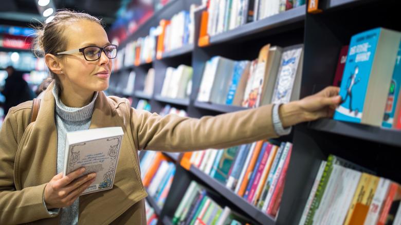 Customer at a book store